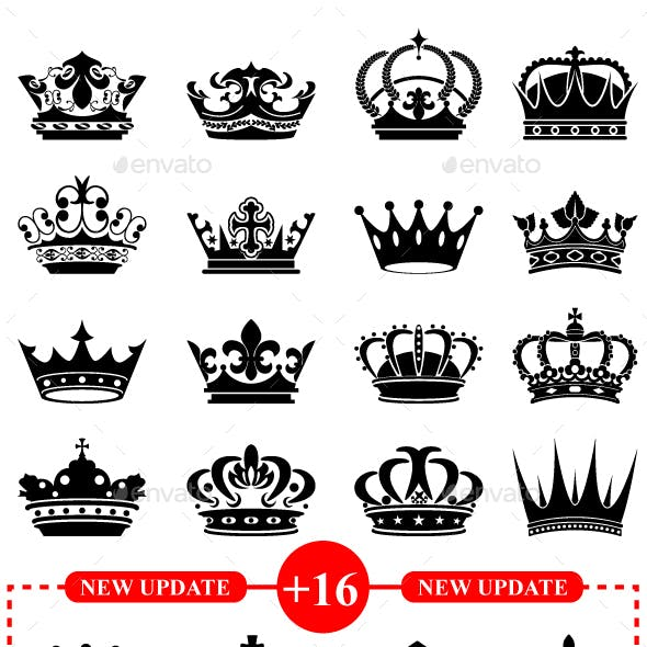 32 Royal Black Crowns