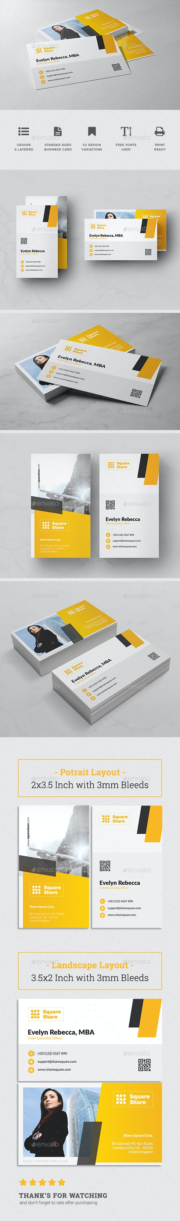 Minimalist Business Card Vol. 17 - Business Cards Print Templates