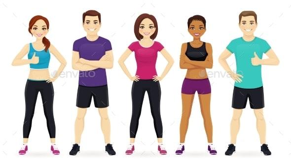Sport People Set - People Characters