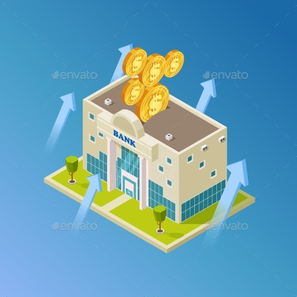 Financial, Business, Banking Vector. Isometric - Miscellaneous Vectors