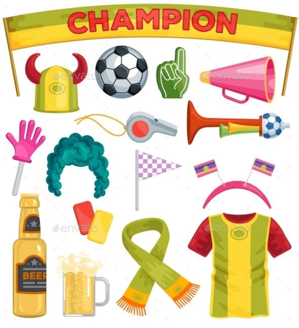 Soccer Fan Set - Sports/Activity Conceptual
