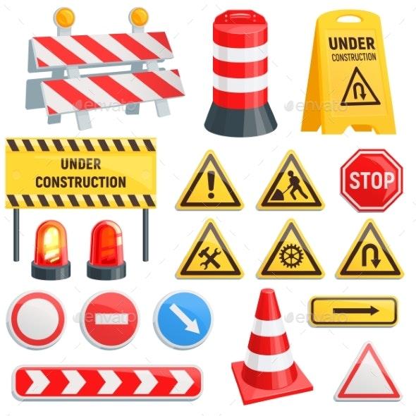Road Barrier Vector Street Traffic-barrier Under - Miscellaneous Vectors