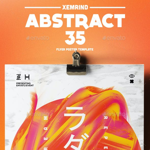 Abstract 35 Flyer/Poster Template