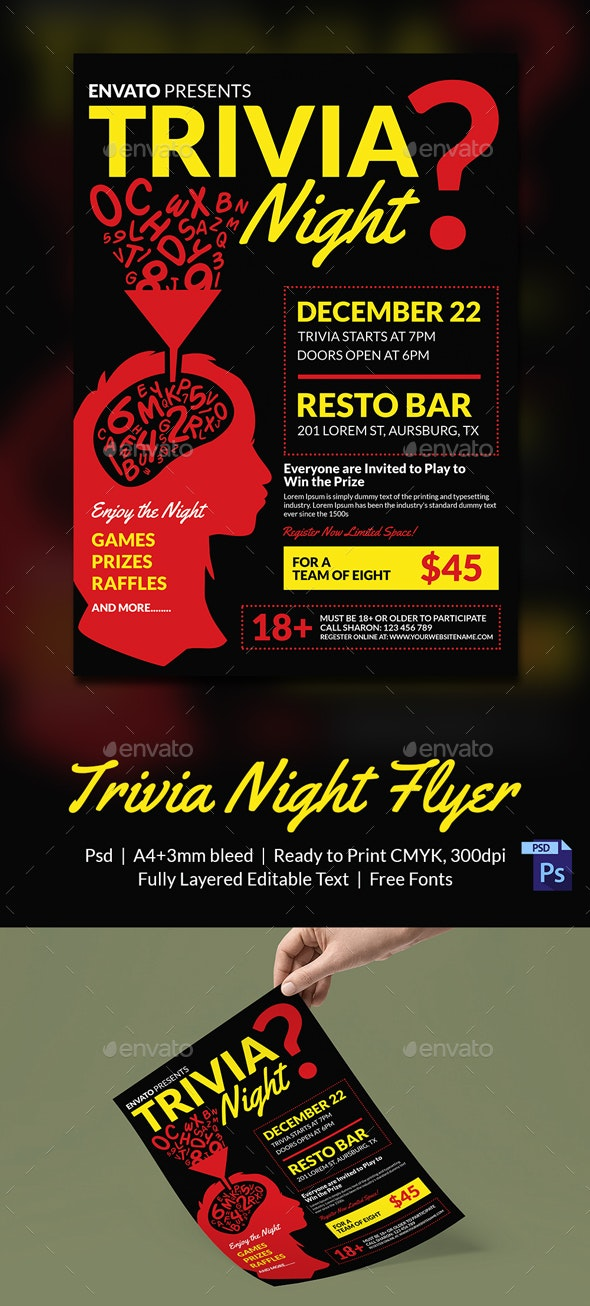 Trivia Night Flyer Template - Print Templates