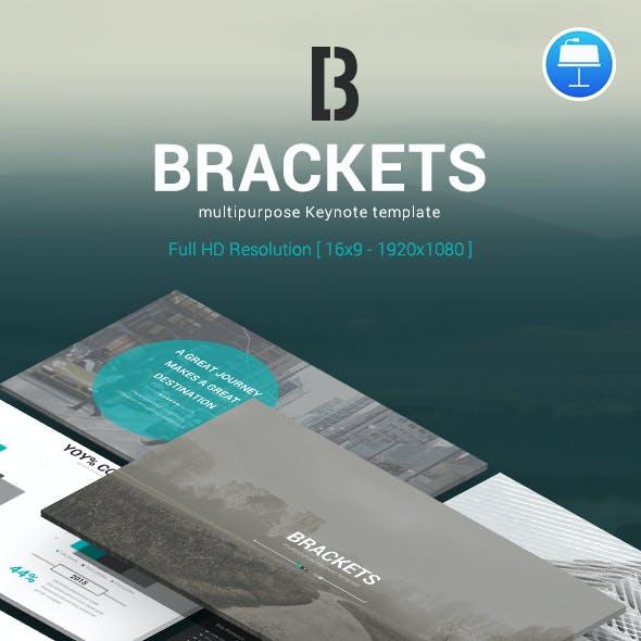 Brackets – Multipurpose Keynote Template
