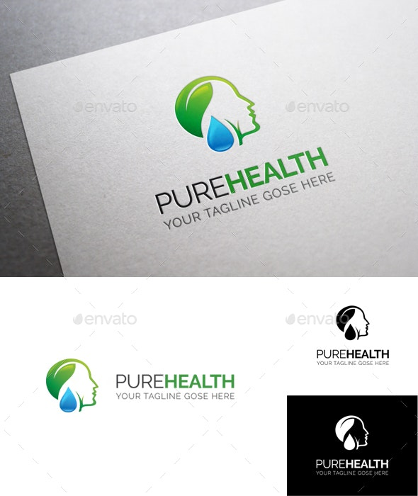 Pure Health Logo Template - Humans Logo Templates
