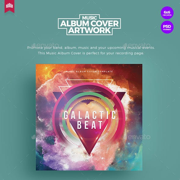 Galactic Beat - Music Album Cover Artwork