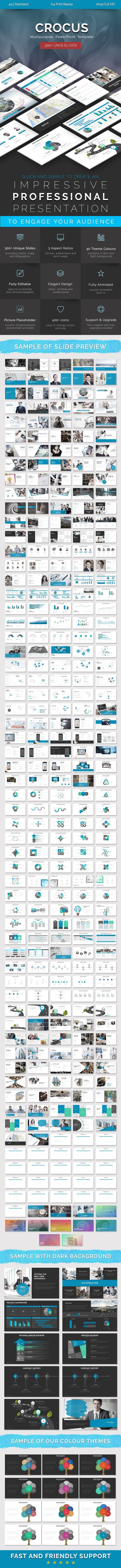 Crocus – Multipurpose PowerPoint Template - Business PowerPoint Templates