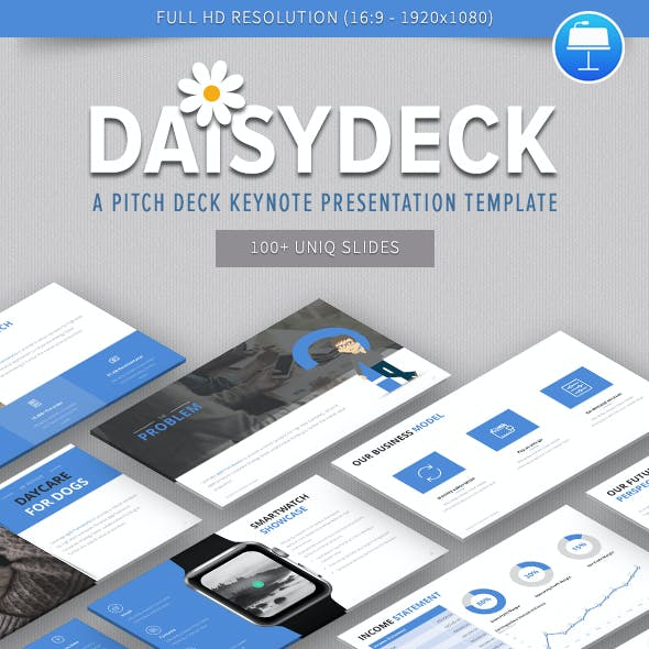 DaisyDeck – A Pitch Deck Keynote Presentation Template