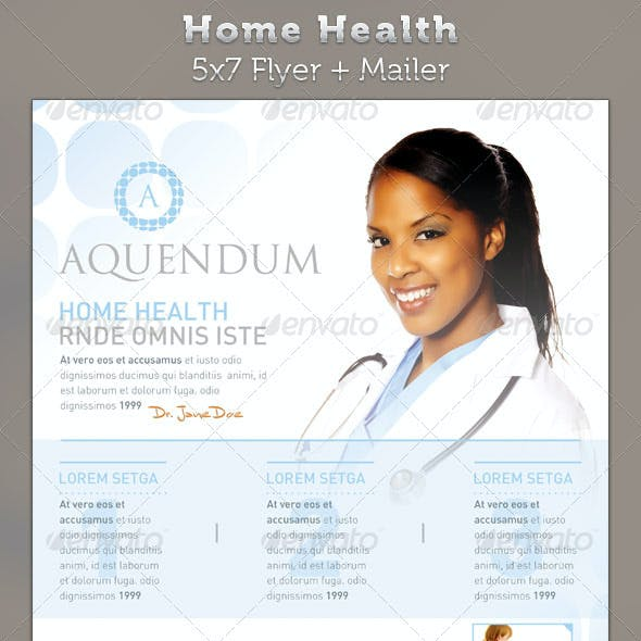 Home Health 5x7 Medical Healthcare Flyer & Mailer