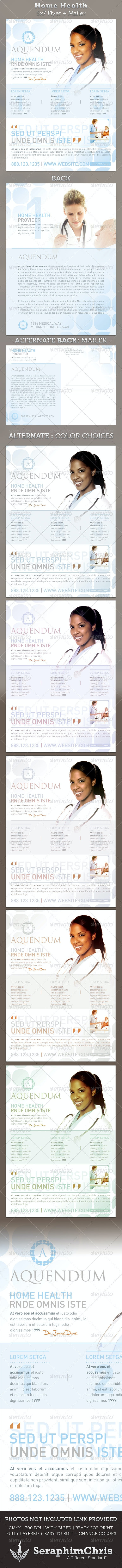 Home Health 5x7 Medical Healthcare Flyer & Mailer - Corporate Flyers