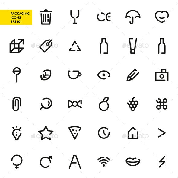 Packaging Icons - Objects Icons