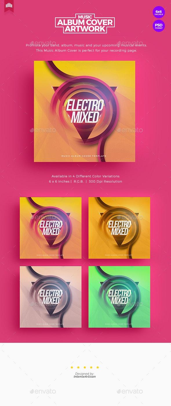 Electro Mixed - Music Album Cover Artwork - Social Media Web Elements