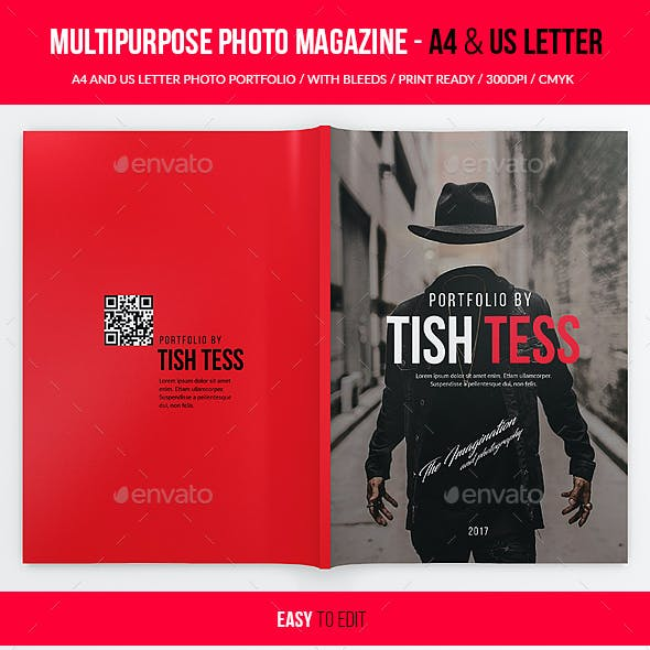 Multipurpose Photo Portfolio - US Letter and A4 - 34pgs