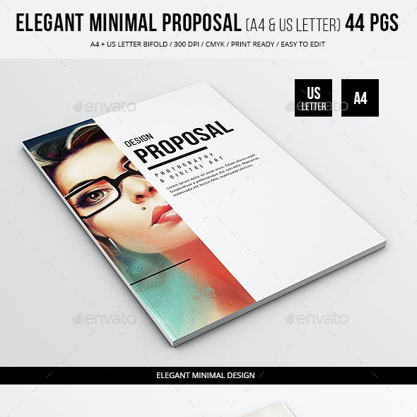 Elegant Minimal Proposal - 44 pgs - A4 and US Letter