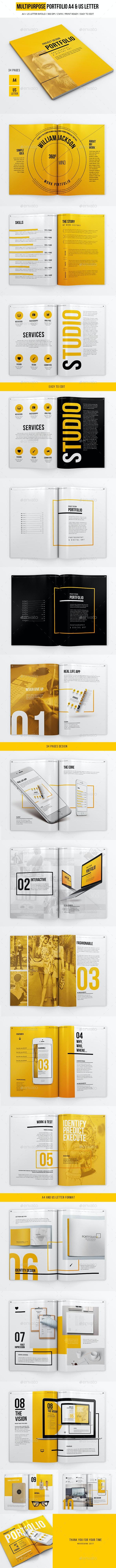 A4 and US LEtter Multipurpose Portfolio - Portfolio Brochures