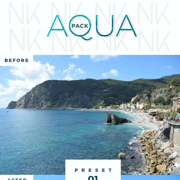 6 Lightroom Presets - Aqua Pack (+Mobile Version)
