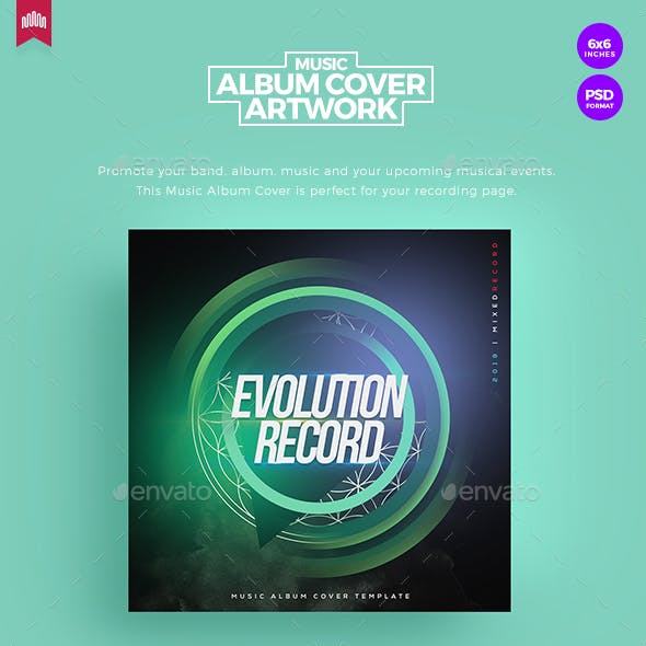 Evolution Record - Music Album Cover Artwork