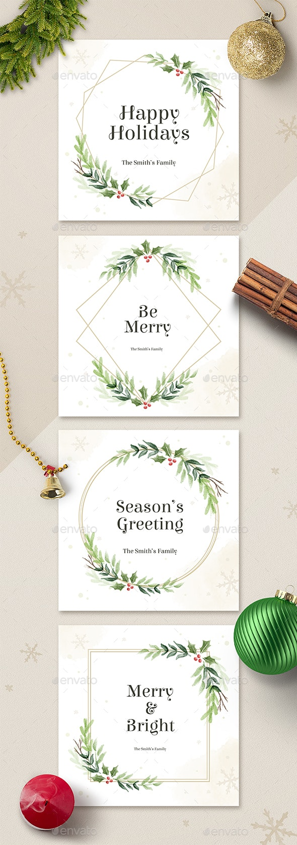 Holiday Cards Social Media Post - Social Media Web Elements