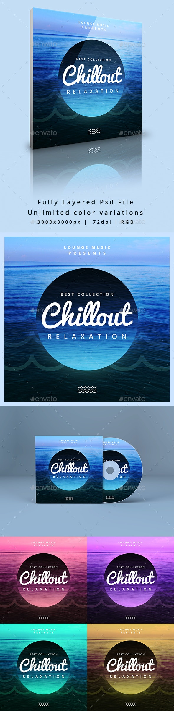 Chillout - Music Cover Album Artwork Web Template - Miscellaneous Social Media