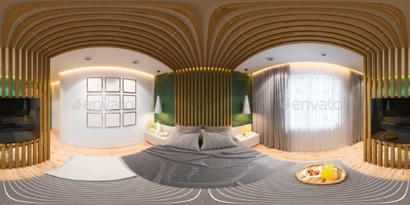 3D Illustration of Seamless 360 Panorama of the - Architecture 3D Renders
