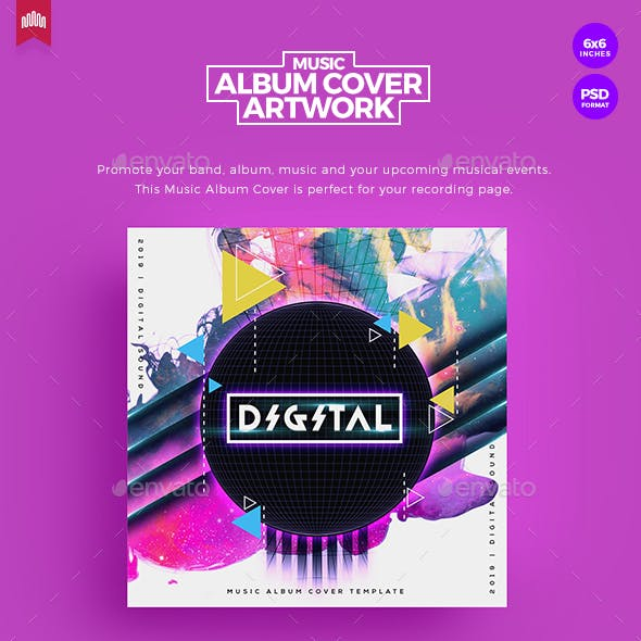 Digital- Music Album Cover Artwork