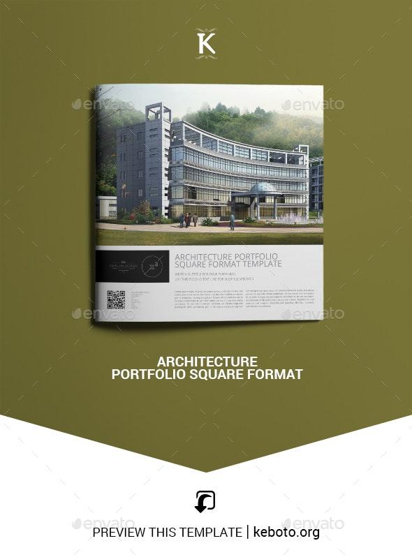 Architecture Portfolio Square Format - Portfolio Brochures