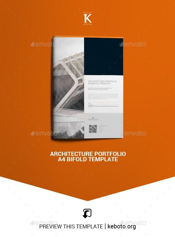 Architecture Portfolio A4 Bifold Template - Portfolio Brochures