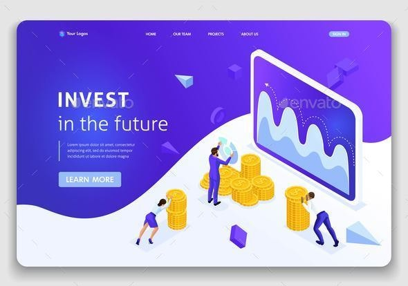 Template Website Isometric Landing Page Concept - Business Conceptual