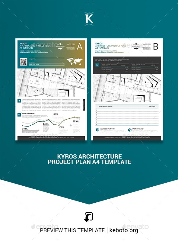 Kyros Architecture Project Plan A4 Template - Miscellaneous Print Templates