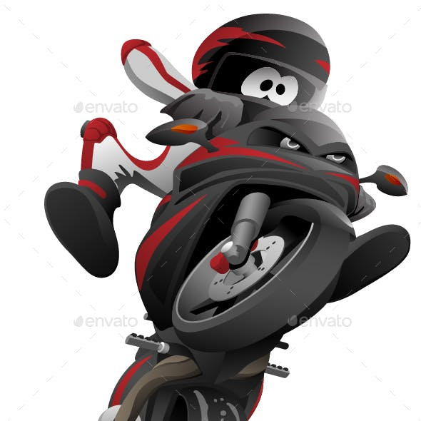 Sportbike Motorcycle Vector