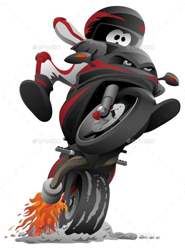 Sportbike Motorcycle Vector - Miscellaneous Vectors
