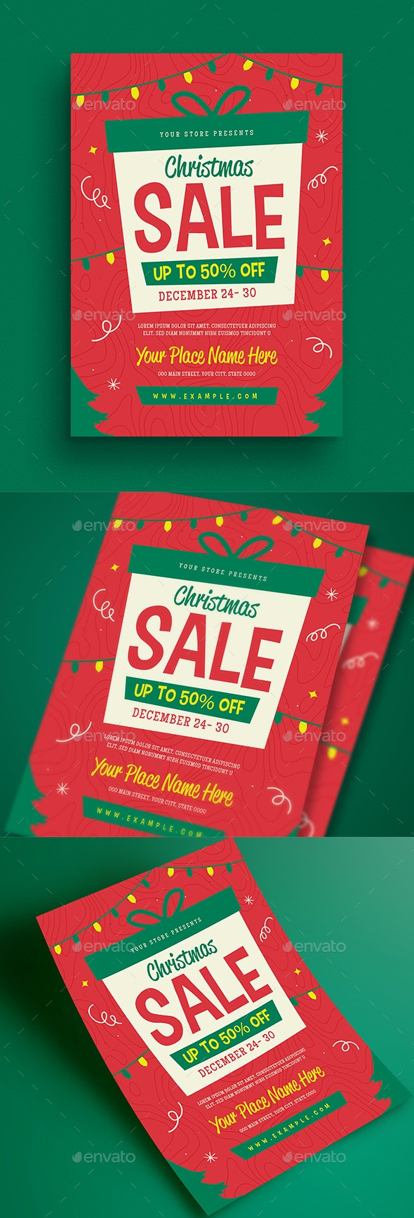 Holiday Christmas Sale Flyer - Holidays Events