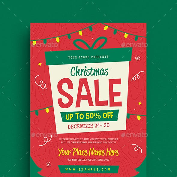 Holiday Christmas Sale Flyer by Guuver | GraphicRiver