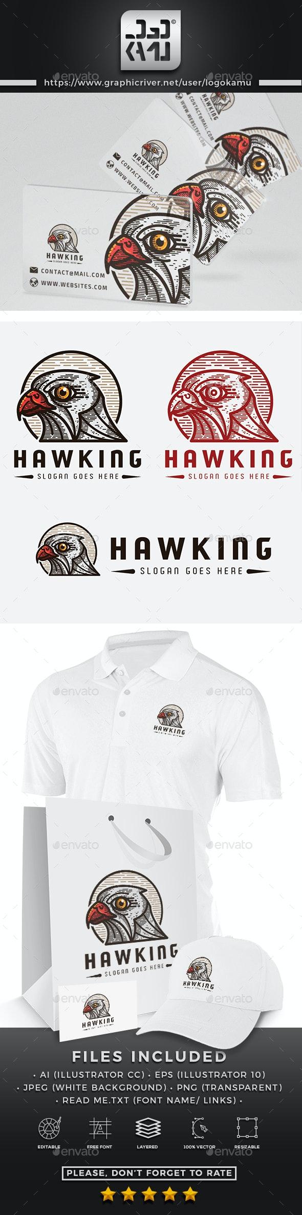 Hawk King Logo - Animals Logo Templates