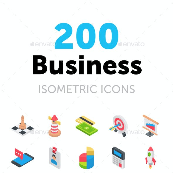 200 Business Isometric Icons