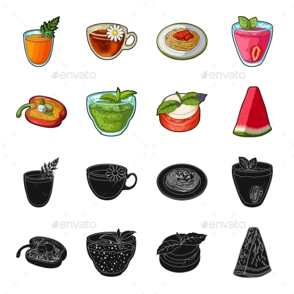 Collection of Food and Sweets - Food Objects