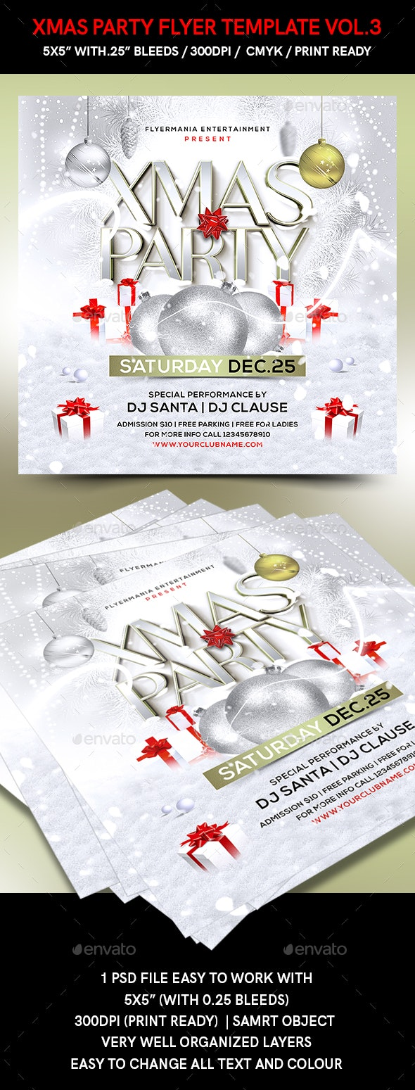 Xmas Party Flyer Template vol.3 - Holidays Events