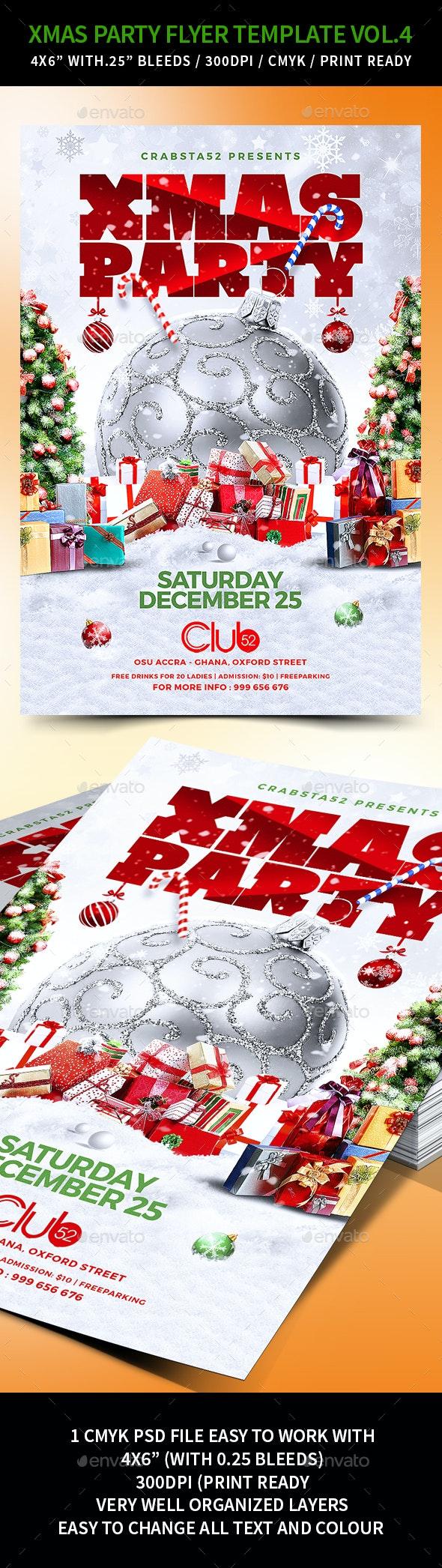 Xmas Party Flyer Template Vol.4 - Flyers Print Templates