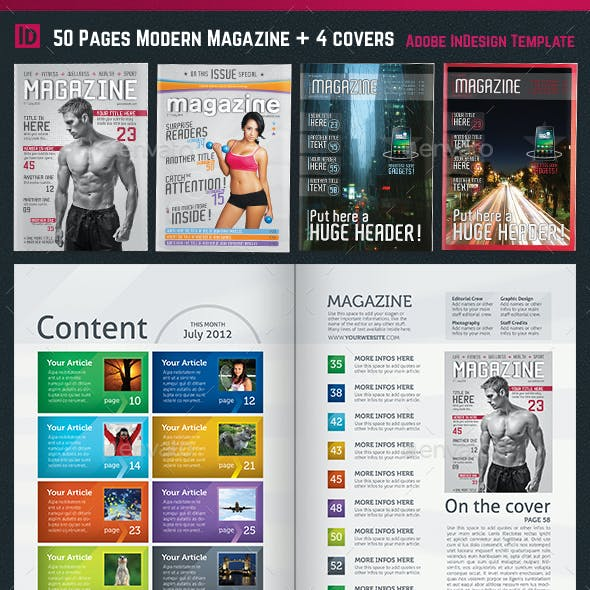50 Page Magazine / Newsletter + 3 Covers