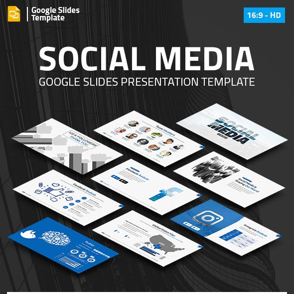 Social Media Marketing Google Slides Pitch Deck