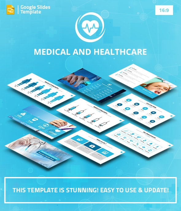 Medical and Healthcare Google Slides Pitch Deck - Google Slides Presentation Templates