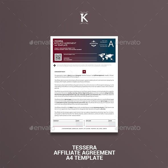 Tessera Affiliate Agreement A4 Template