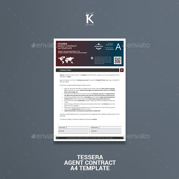Tessera Agent Contract A4 Template