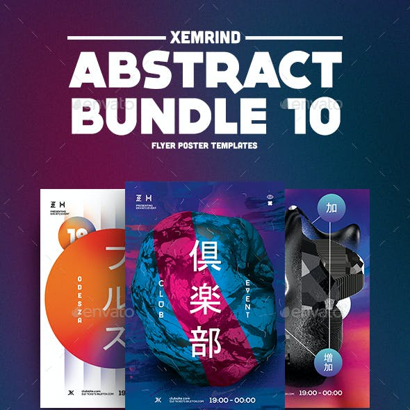 Abstract Flyer/Poster Template Bundle 10