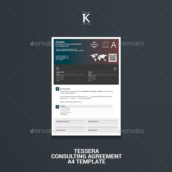 Tessera Consulting Agreement A4 Template