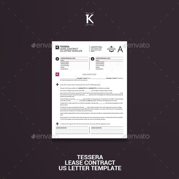 Tessera Lease Contract US Letter Template