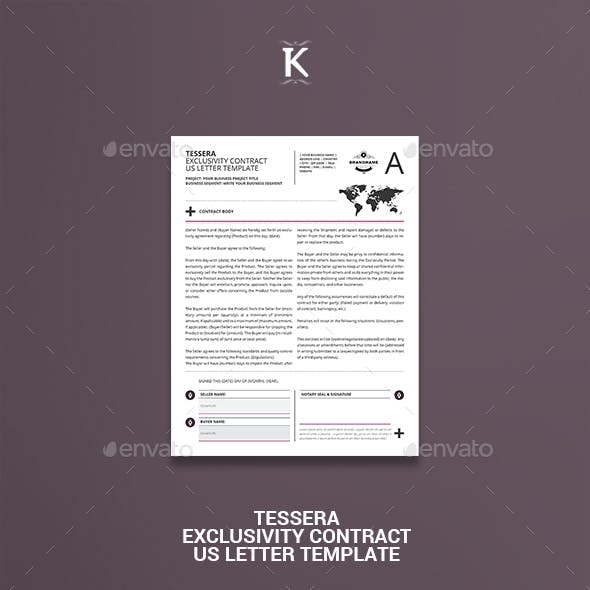 Tessera Exclusivity Contract US Letter Template
