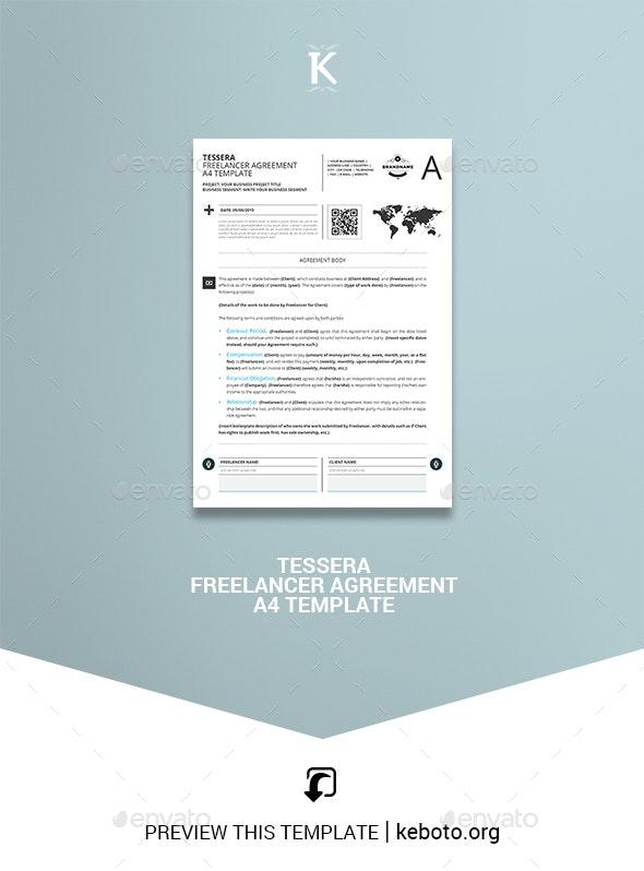 Tessera Freelancer Agreement A4 Template - Miscellaneous Print Templates