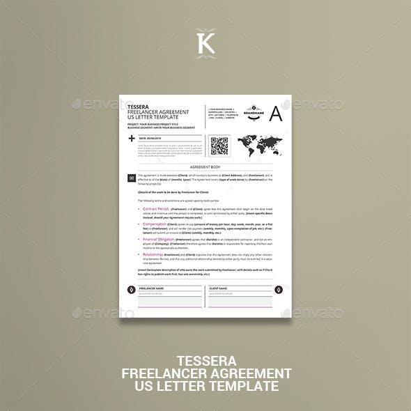Tessera Freelancer Agreement US Letter Template